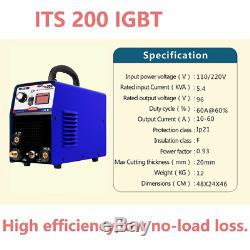 200A TIG/MMA Welder 2in1 Stainless Steel ARC Welding Machine & Torch &Consumable