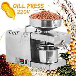 220V Automatic Oil Press Machine Oil Extraction Olive Nuts Extractor