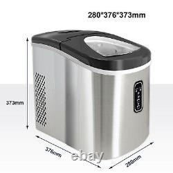 2.2L Ice Maker Machine Automatic Electric Ice Cube Maker Countertop 12KG/24H New