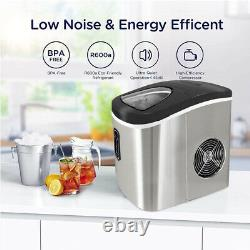 2.2L Ice machine Ice maker Ice cube maker fast Silvery bar counter Ice Maker UK