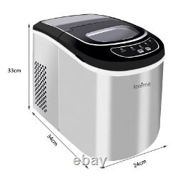 2.2L Large Quick Ice Making Machine Countertop Ice Cube Maker Stainless Steel UK