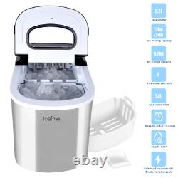 2.2L Portable Electric Ice Making Machine Ice Cube Maker withScoop Home Bar 26 lbs