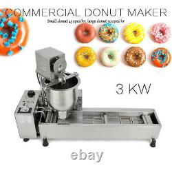 3KW Commercial Automatic Donut Maker Machine & 3 free Stainless Steel Mold