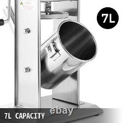 7L Sausage Meat Stuffer Filler Maker Machine with 5 Size Nozzles Stainless Steel