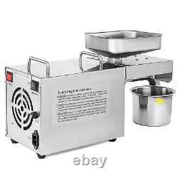 AUTOMATIC Oil Press Machine Stainless Steel Olive Nut Seed Cold & Hot press 220V