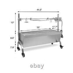 BBQ Grill Electric Hog Roast Barbeque Spit Machine Oven Rotisserie 88lbs