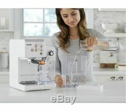 BREVILLE One-Touch VCF108 Coffee Machine White & Rose Gold Currys