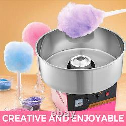 Commercial Cotton Candy Machine Floss Maker WithCover Cart Electric 1030W Store