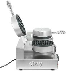 Commercial Double Waffle Maker Catering Kitchen Non-Stick Plate Food Machine