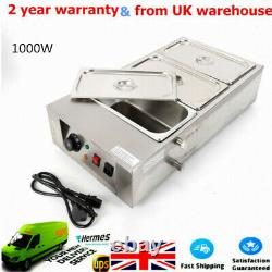 Commercial Electric Chocolate Tempering Machine 12kg Melter Maker 3 Melting Pot