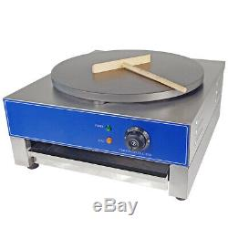 Commercial Electric Crepe Maker 3KW Non Stick Large Pancake Griddle Machine UK