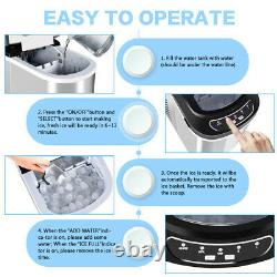 Commercial Ice Maker Machine Electric Portable Countertop Ice Cube Maker 2.2L