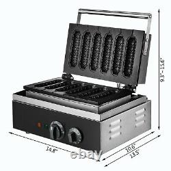 Commercial Nonstick Electric Lolly Waffle Stick Heart Waffle Baker Maker Machine