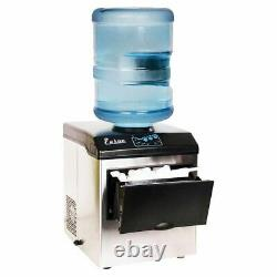 Electric 5 Gallon Cool Water Dispenser with Built-In Ice Maker Machine Countertop
