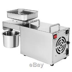 Electric Automatic Oil Expeller Press Machine Olive Nut Seed Extractor 460W 220V
