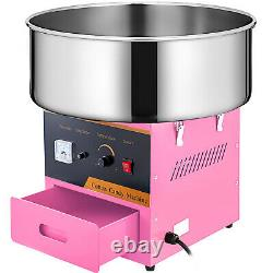 Electric Candy Cotton Machine Professional Pink Floss Candyfloss Maker 1030w New