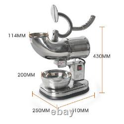 Electric Ice Crusher Shaver Machine 440lbs Snow Shaving CE stainless steel