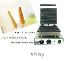 Electronic Commercial Electric Lolly Waffle Stick Baker Machine Waffle Maker