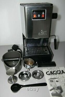 Gaggia Classic Coffee Machine. 2006 model Made in Italy with extra accessories