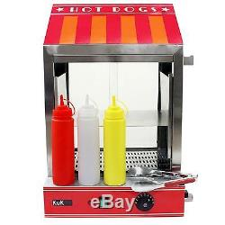 Hot Dog Steamer Machine Cooker Commercial Electric Warmer Display Showcase