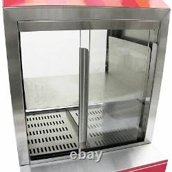 Hot Dog Steamer With Cart Party Events Catering Warmer Hotdog Display Machine