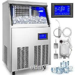 Ice Cube Maker Machine 70Kg/155Lbs Automatic Water Filter Commercial 45PCs