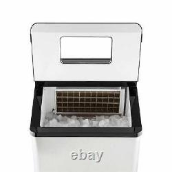 Ice Cube Maker Machine Commercial Stainless Steel Cocktail Bar 30kg/24h 450W
