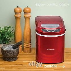 Ice Maker Machine Compact Portable Countertop Ice Cube Maker 2.4L Andrew James
