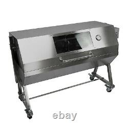 Large 150cm Stainless Steel Charcoal Hog Roast BBQ Machine with Lid