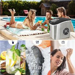 Loefme Portable Stainless Steel Ice Maker Machine 12kg/Day 2.2 L withIce Scoop New