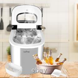 Portable Ice Cube Maker Machine/3-Layer Tank/High-Quality Stainless Steel Shell