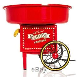 Red Electric Portable Cotton Sugar Candy Floss Maker Machine Home Party Wedding