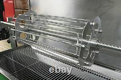 Stainless Steel Hog Roast Spit Machine Poultry Carousel Rack up to 16 Chickens