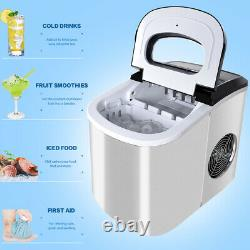 Stainless Steel Ice Machine Ice Maker Fast Ice Cube Maker Counter Icemaker 2,2L