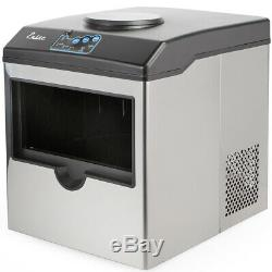 Stainless Steel Water Dispenser with Built-In Ice Maker Machine Counter Portable