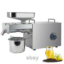 Temperature Control Oil Press Machine Hot Cold Nut Seed Oil Expeller Extractor