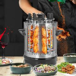 Vertical Electric Grill Barbecue Table 9 Skewers Kebab Machine BBQ Rotisserie
